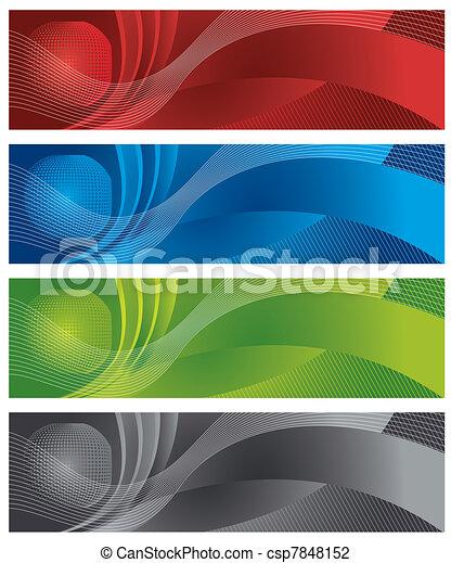 Globe and halftone digital banners - csp7848152