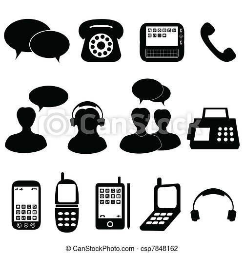 Telephone and communication icons - csp7848162