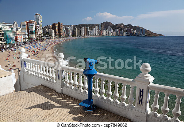 View of the Mediterranean resort Benidorm, Spain, Photo taken at 20th of October 2011 - csp7849062