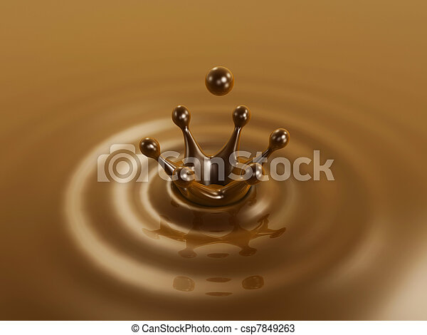 Chocolate liquid drop crown - csp7849263