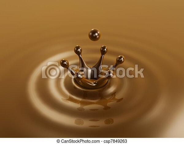 Chocolate liquid drop crown - csp7849263