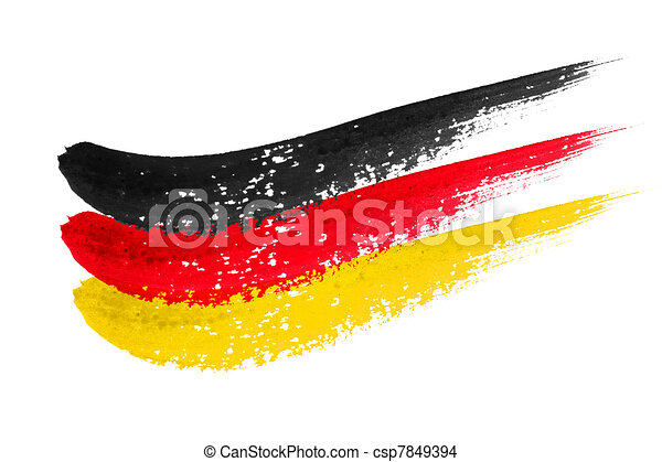 brushstroke flag Germany - csp7849394