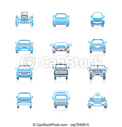 Cars front view icons | MARINE - csp7849610