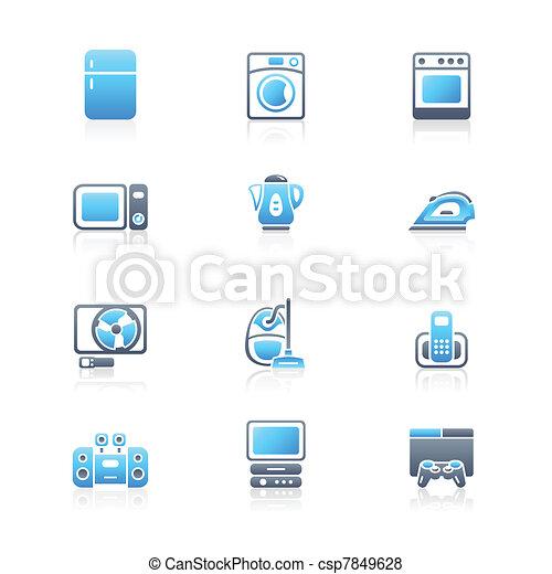 Home electronics icons | MARINE - csp7849628