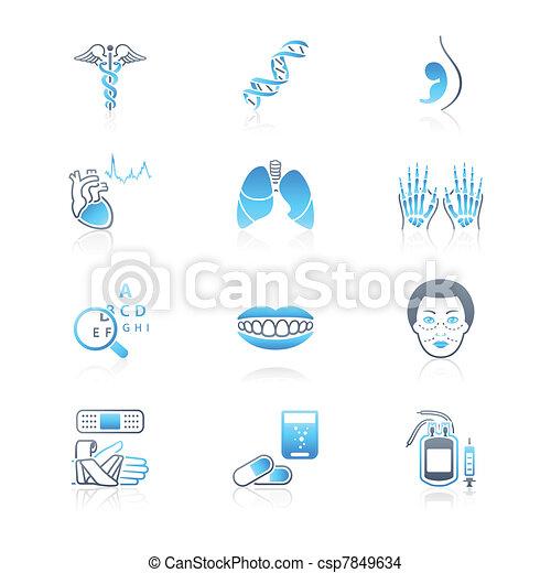 Medicine icons   MARINE series - csp7849634