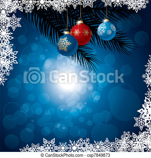 Winter background. Vector Illustration - csp7849873