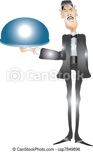 Waiter on serve - csp7849896