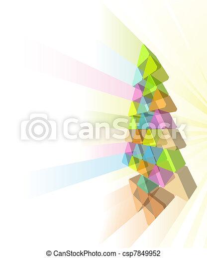 Modern Christmas tree concept - csp7849952