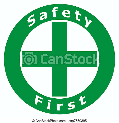 primeiro, segurança, sinal - csp7850395