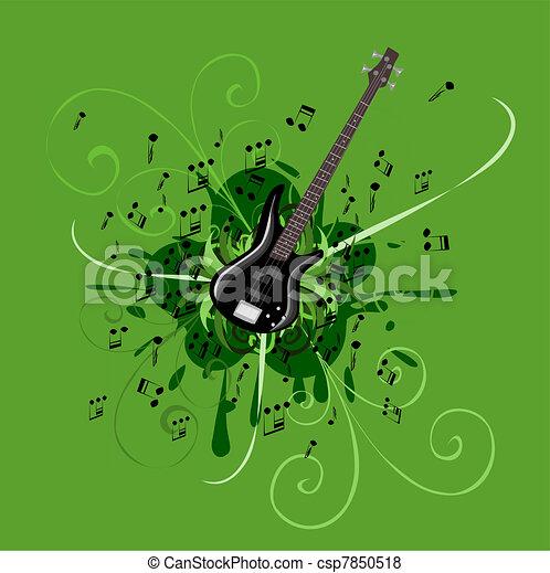 Abstract bass guitar - csp7850518