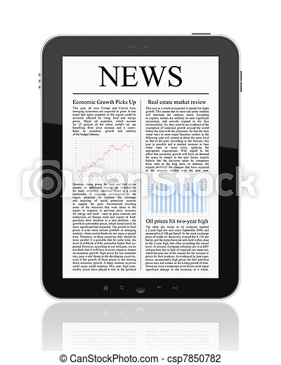 News On Tablet PC - csp7850782