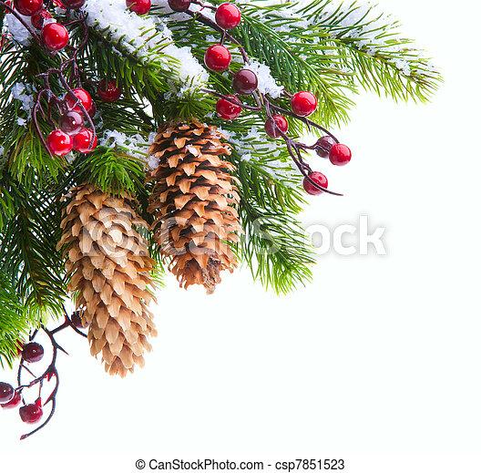 芸術, 保護される, 木, クリスマス, 雪 - csp7851523