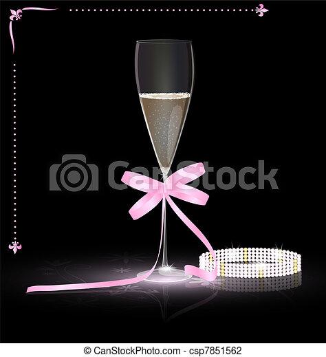 glamour champagne - csp7851562