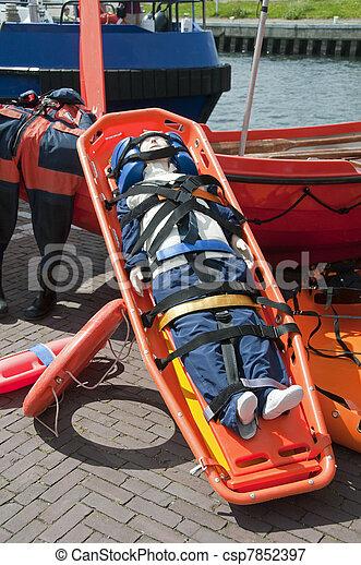 emergency stretcher - csp7852397
