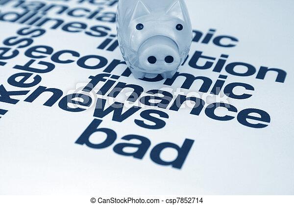 Bad finance news - csp7852714