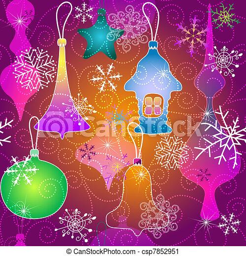 Christmas vivid pattern - csp7852951