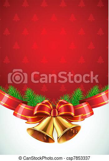Christmas decorative background - csp7853337
