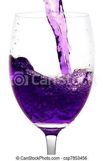 purple  Alcoholic Cocktail in martini glass - csp7853456