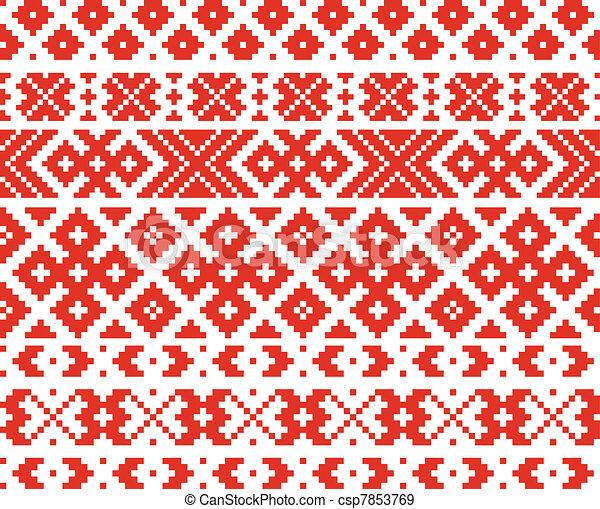 Belorussian traditional ornament - csp7853769