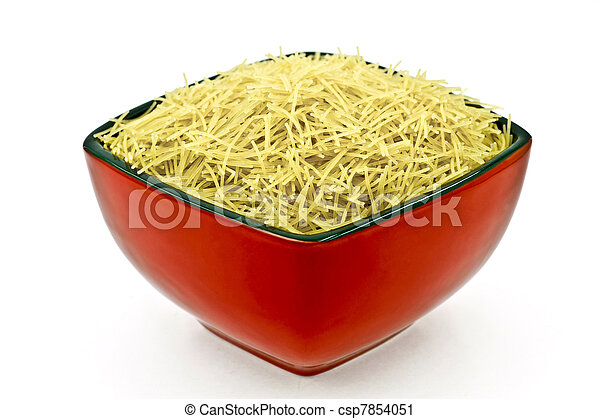 A Red-Black Dish Full of Vermicelli - csp7854051