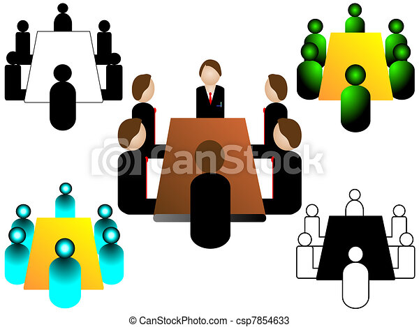 business meeting icon - csp7854633
