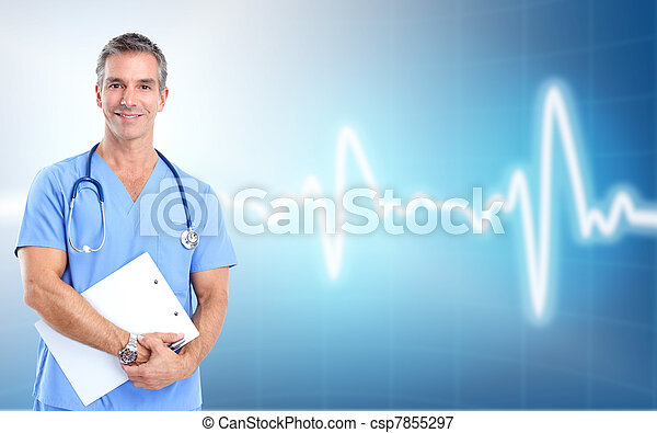 Medical doctor cardiologist. Health care. - csp7855297