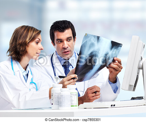 Doctors team with x-ray. Health care. - csp7855301