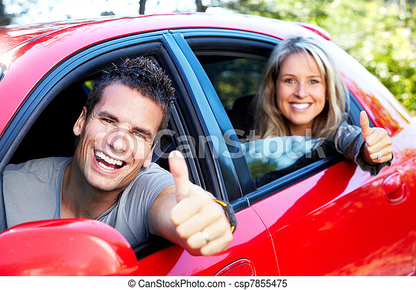 voiture, famille - csp7855475