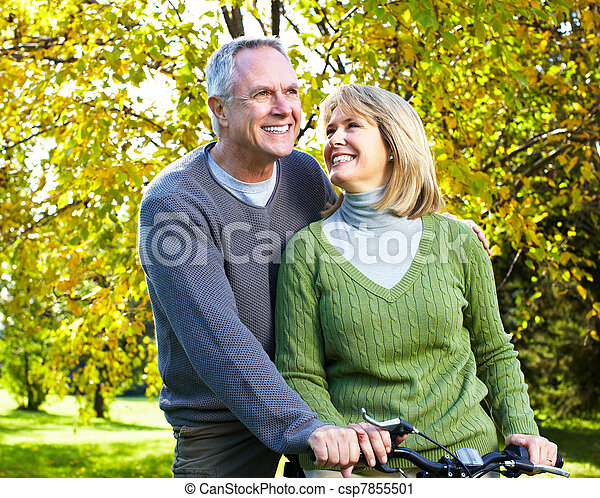 Happy elderly couple. - csp7855501