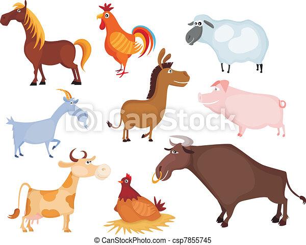 farm animal set - csp7855745