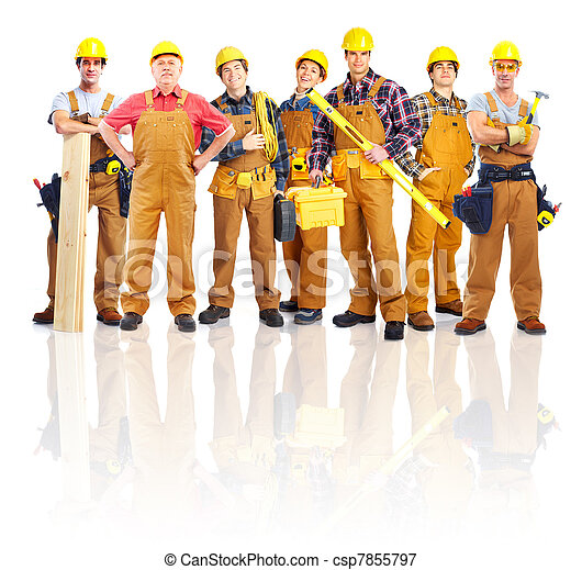 Group of professional industrial workers. - csp7855797