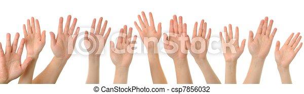 Hand gesture high five - csp7856032