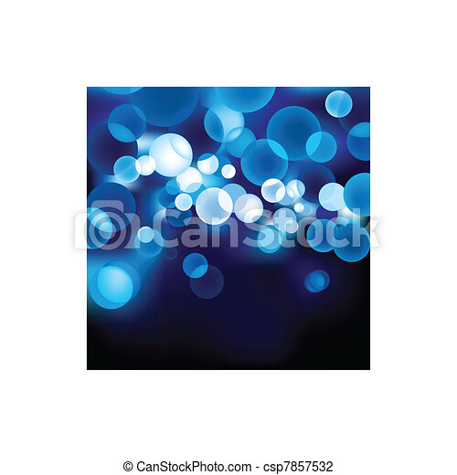 Blue Defocused Light  - csp7857532