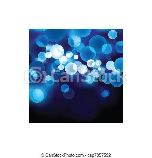 Blue Defocused Light - csp7857532