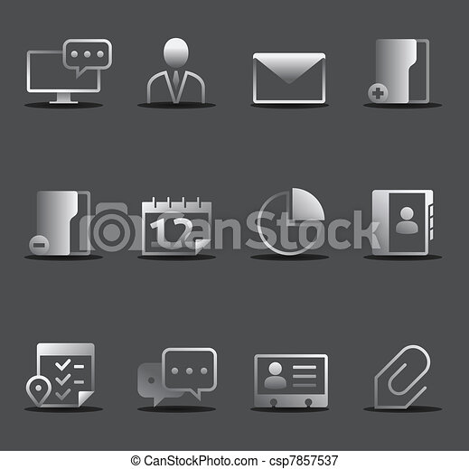 Dark Icons - Group collaboration - csp7857537