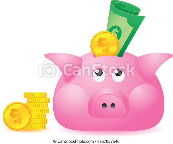 Piggy Bank - csp7857546