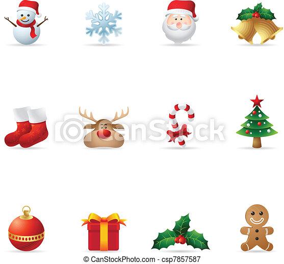 Web Icons - Christmas - csp7857587