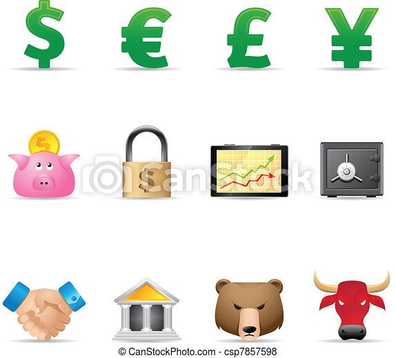 Web Icons - Finance - csp7857598
