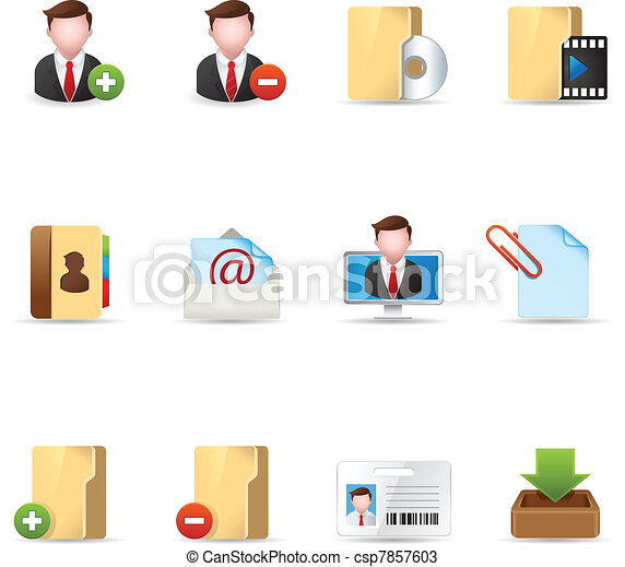 Web Icons - Group collaboration 2 - csp7857603