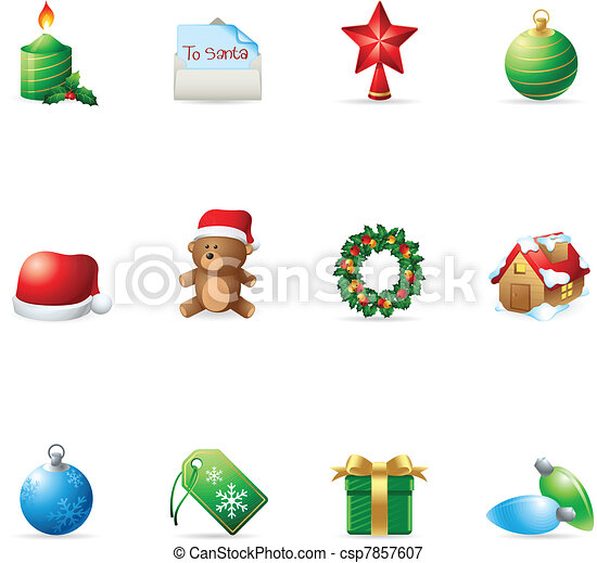 Web Icons - More Christmas - csp7857607
