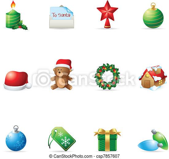 Web Icons - More Christmas - csp7857607