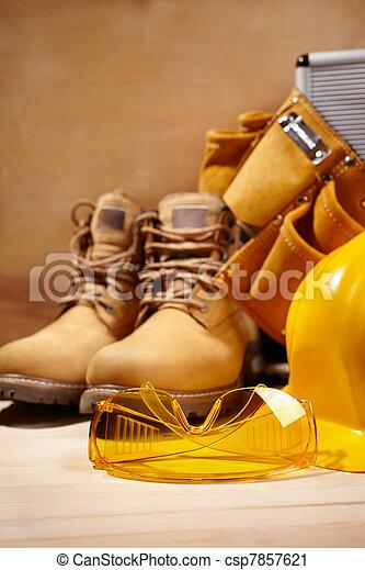 construção, segurança - csp7857621