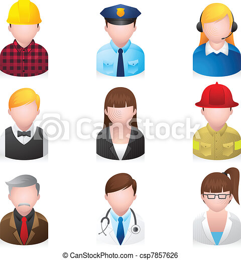 Web Icons - Professional People 2 - csp7857626