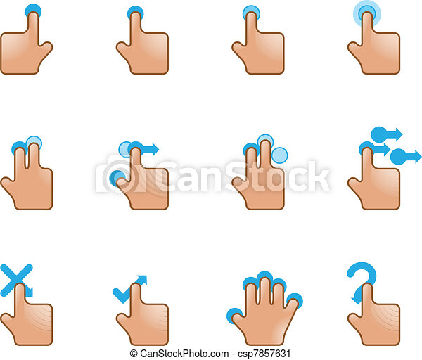 Web Icons - Touch Gestures - csp7857631