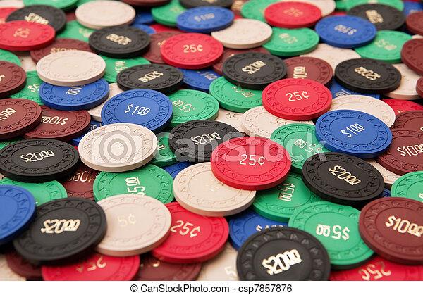 Gambling chips - csp7857876