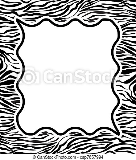 frame with abstract zebra skin texture - csp7857994