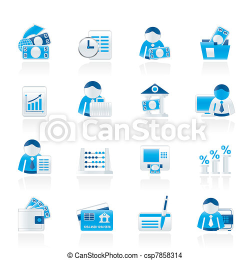 Bank and Finance Icons - csp7858314