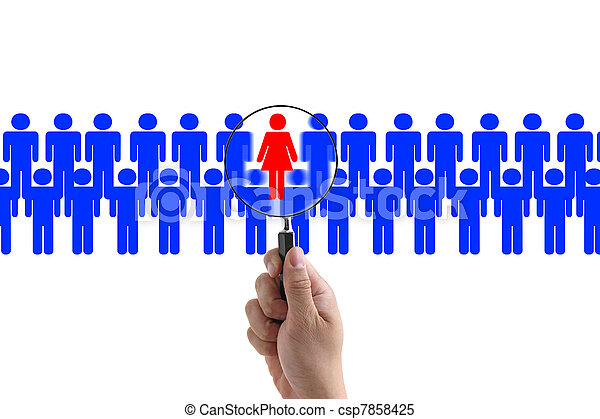 woman recruitment - csp7858425