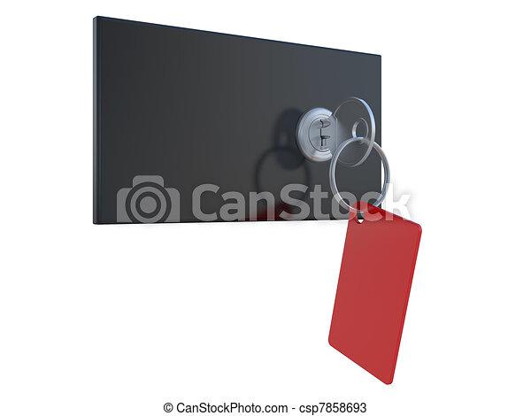 safety deposit boxes - csp7858693