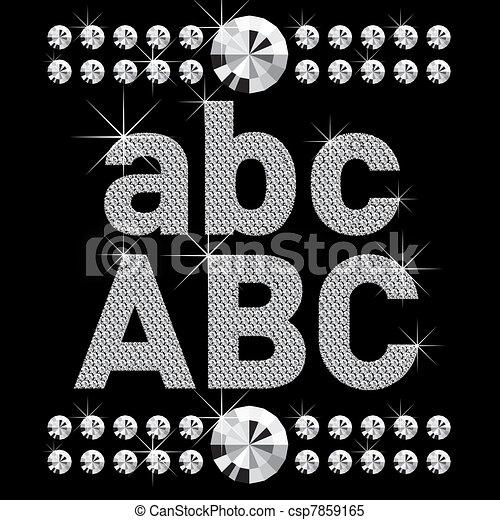 new set of diamond bold letters - csp7859165